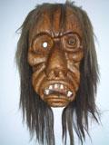 Eine der berühmten Lötschertaler Masken